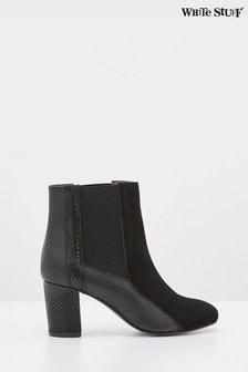 White Stuff Black Harper Heeled Ankle Boots