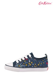 Cath Kidston® Blue Kids Low Top Trainers