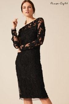 Phase Eight Black Nikita Tapework Dress