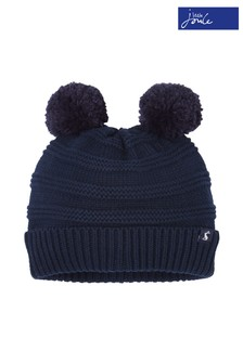 Joules Navy Pom Pom Knitted Hat