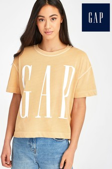 Gap Kastiges T-Shirt, Orange