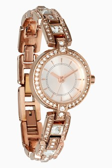 Crystal Effect Bracelet Watch