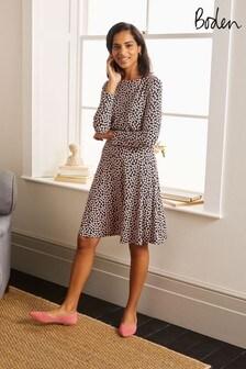 Boden Black Nellie Jersey Dress