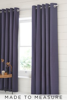 Cotton Purple Made To Measure Curtains