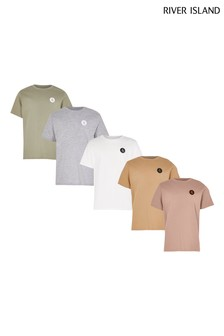 River Island Pink Light Pastel T-Shirts 5 Pack