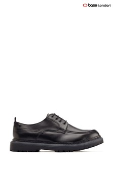 Base London® Black Rene Apron Toe Shoes