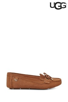 UGG® Tan Eevon Suede Loafers