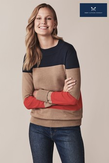 Crew Clothing Blue Rugby Stripe Jumper