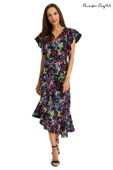 Phase Eight Blue Sheldon Printed Dress