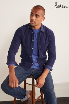 Boden Light Navy Cord Shirt