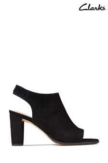 Clarks Black Kaylin Sling Sandals