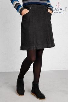 Seasalt Petite Black Calstock Skirt