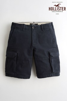 Hollister Navy Cargo Shorts