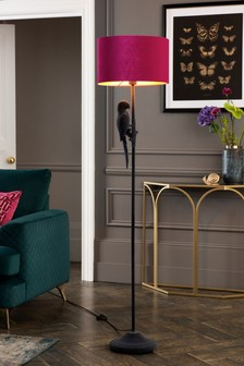 Grey Perry Parrot Floor Lamp