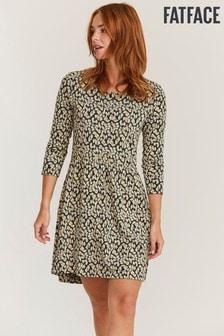 FatFace Natural Nina Ikat Texture Dress