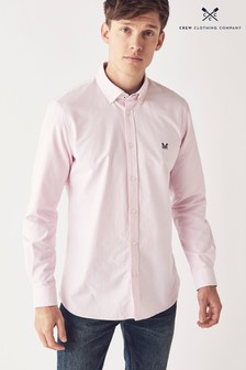 Crew Clothing Company Pink Oxford Slim Shirt