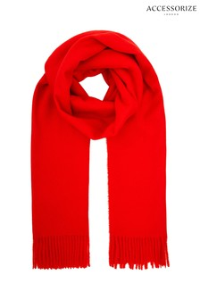 Accessorize Red Holly Supersoft Scarf