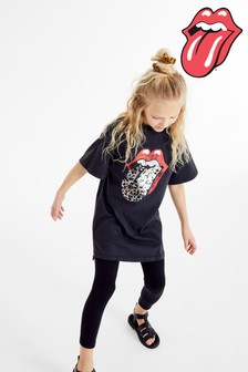 Sequin Rolling Stones T-Shirt Dress (3-16yrs)