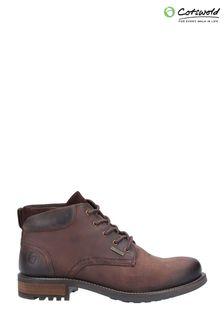 Cotswold Brown Woodmancote Lace-Up Work Boots