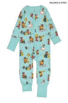 Polarn O. Pyret Blue GOTS Organic Cinderella Mouse Pyjamas