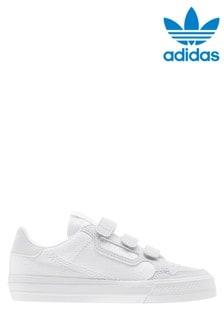 adidas Originals White Continental 80 Vulc Junior Velcro Trainers