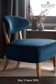 Margot Casual Chair in Crimson Velvet Fabric by Bentley Designs