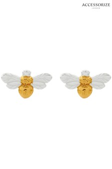Accessorize Silver Bee Stud Earrings