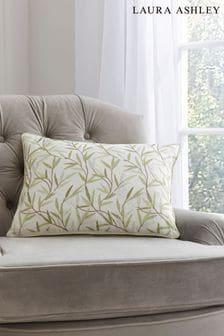 Laura Ashley Green Willow Leaf Hedgerow Cushion