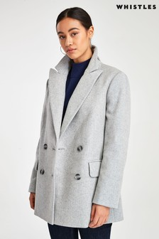 Whistles Grey Oversized Blazer