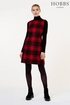 Hobbs Red Daphne Dress