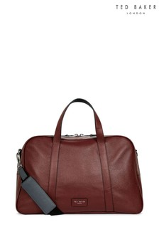 Ted Baker Red Leather Holdall