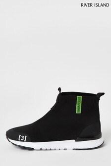 River Island Black Prolific Sock Top Shoes