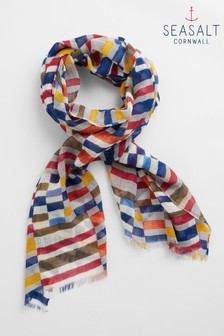 Seasalt Grey Pretty Printed Scarf