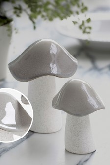 Keramikskulptur im Pilzdesign
