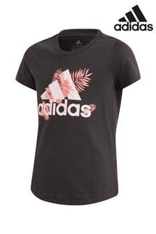 adidas Floral Logo T-Shirt