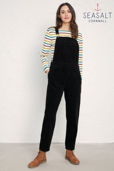 Seasalt Black Metalcraft Dungarees