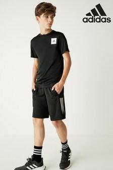 adidas Black Stripe Aero Shorts