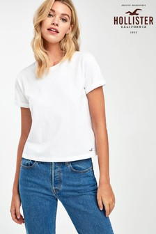 Hollister White Perfect Tee