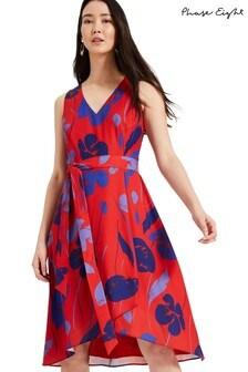 Phase Eight Red Sacha Printed Dress