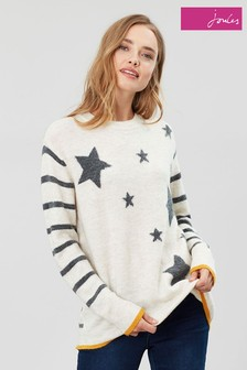Joules Cream Chantelle Intarsia Jumper