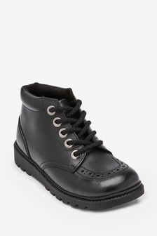 Leather Lace-Up Boots (Older)