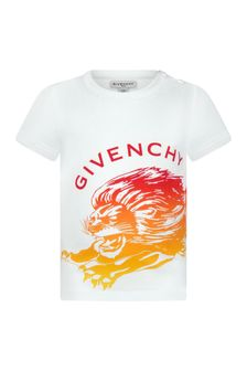 Givenchy Kids Baby Boys White Cotton T-Shirt