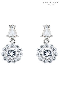 Ted Baker Metalic Lranha Daisy Crystal Drop Earrings