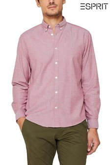 Esprit Red Casual Oxford Stretch Shirt