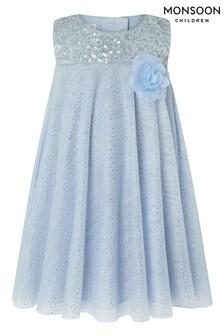 Monsoon Blue Baby Ella Sequin Swing Dress