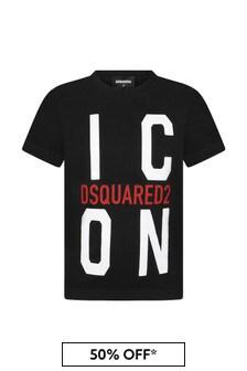 Dsquared2 Kids Boys Black Cotton T-Shirt
