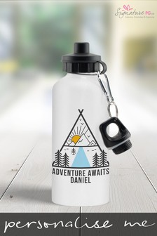 Personalised Adventure Awaits Water Bottle by Signature PG