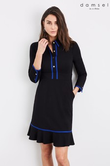 Damsel In A Dress Black Natalya Colourblock Dress