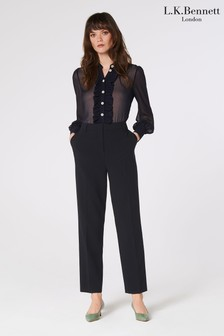 L.K.Bennett Blue Frieda Straight Leg Trousers