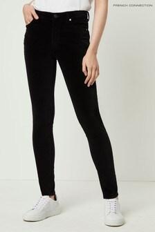 French Connection Black Skinny Velvet Jean